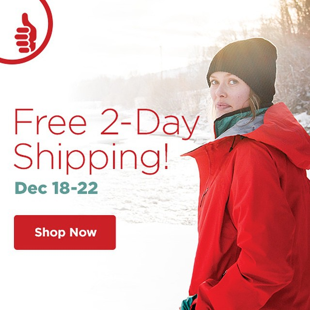 Free 2-Day shipping for all you last minute shoppers!