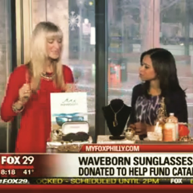 Gifts that give back segment on #FOX #spreadthemovement in #philly #waveborn  @phillygives
