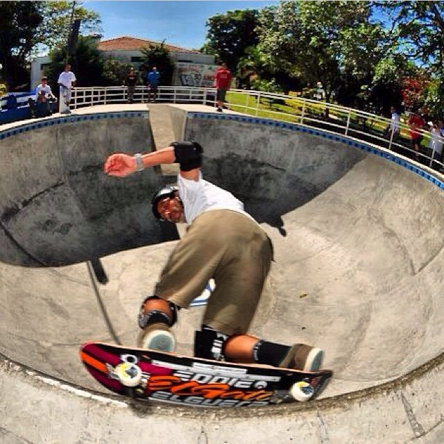 RegrAm @eddieelguera down in #brasil. Eddie wears the S1 Lifer Helmet ... The el gato lifer ! Get one at @socalskateshop