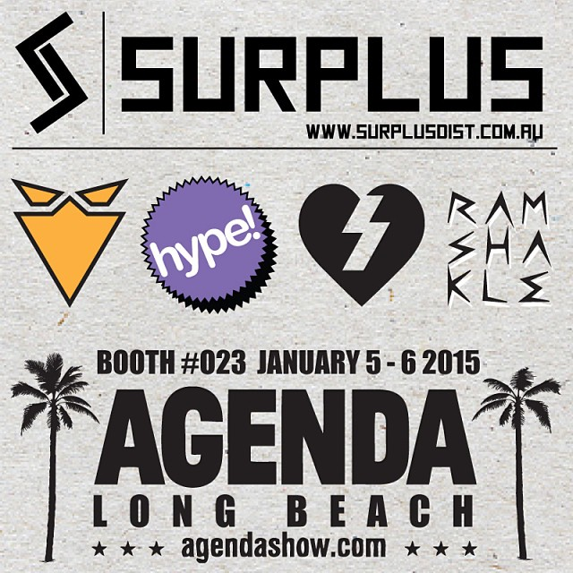 Not long now until Agenda Tradeshow. You can find us in  @surplusskate Booth #023. Stop in and See what we have in store for 2015 ✌️ #getshakled