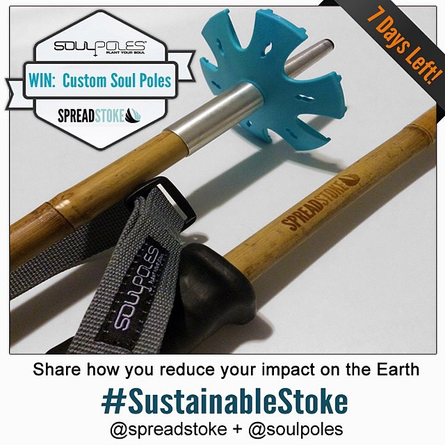 Win a pair of @spreadstoke signature @soulpoles by showing us how you spread the #sustainablestoke!  To Enter :  1. Follow @spreadstoke and @soulpoles on Instagram 2. Share a photo of how you reduce your impact on the environment and add hashtag...