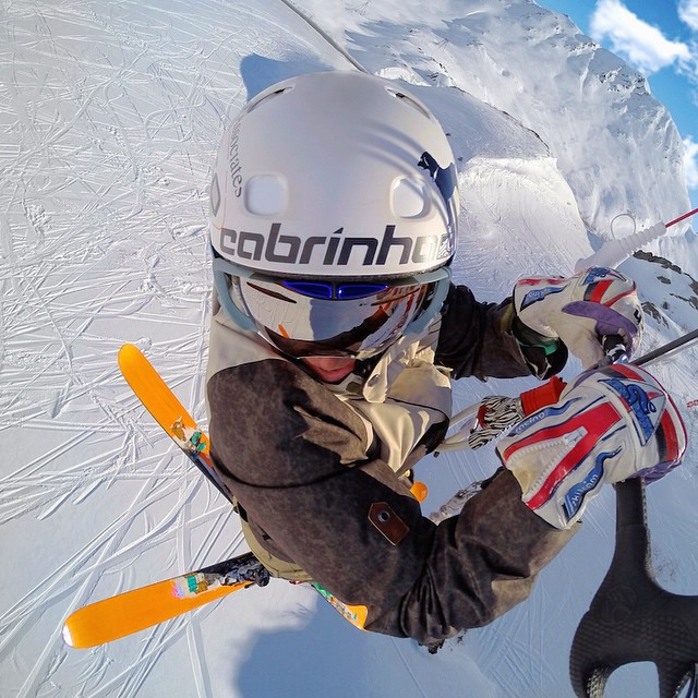 GoPro athlete @leroydamo avoiding the lift lines.