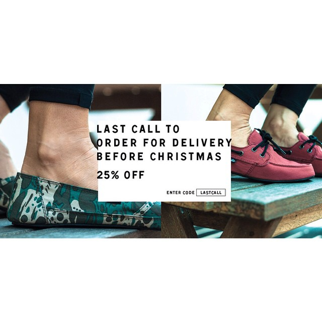 Last call for delivery before Christmas! Shipping today.. www.indosole.com Enter code: LastCall for 25% OFF