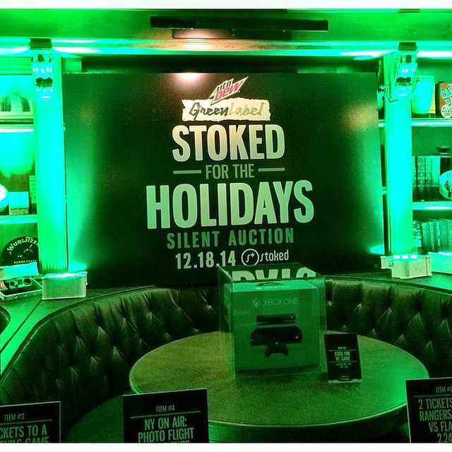 This is called the holiday bonus. Thank you @MountainDew, @GreenLabel, and @complex for turning your holiday party into a fundraiser for #stokedorg!