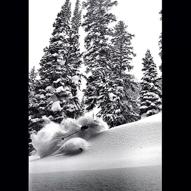 Storms are brewing for some weekend pow. #embracethestorm Skier: @ericbalken PC: @timgates