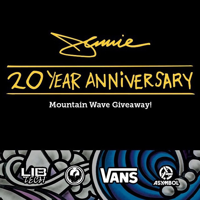In celebration of 20 years of Jamie Lynn pro models, art, craftsmanship and power freestyle dominance @libtechnologies Asymbol, Vans, and @dragonalliance are giving away his entire 20 year collection!  Link in @libtechnologies profile.