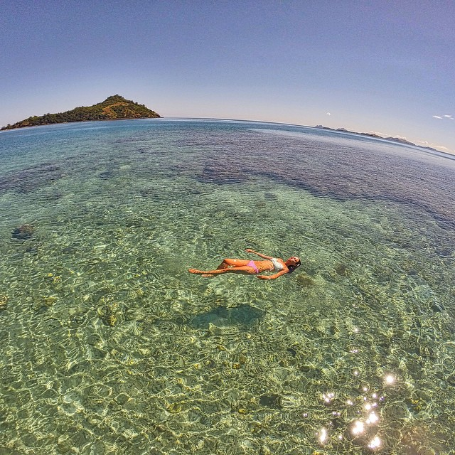 Photo of the Day! Floating in paradise, aka Fiji. Photo by Clay Chapman.