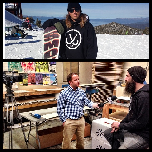 @kolo8 did a story that is airing at 5:30 tonite- they got wind of our #smokinAwesymboard and the fact it won awards in the top 3 magazines #bestoftest #platinumpick and #goodwood  check it out tomorrow on our website if you aren't in the Tahoe area....