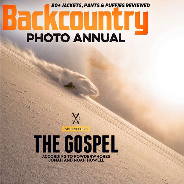 #Engelberg was fairly thin last year, but photographer @oskar_enander and DPS Koala @pierssolomon found some deep #powder and majestic morning light one day. Capturing this year's @backcountrymag Photo Annual cover.