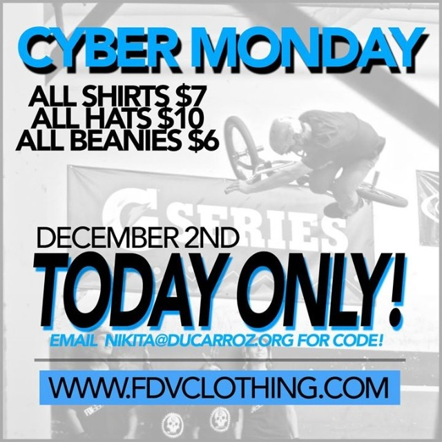 For the rest of today enjoy some super cheap #fdvclothing gear! Support your #local #riderowned #brand! #bmx #usa #bmxfam