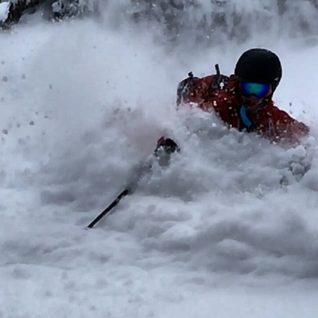 Today was stupid deep in #eastvail videos to come! #powskiing @libertyskis @backcountryaccess