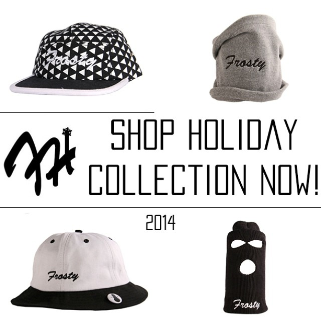Holiday 2014 collection now on sale through the link in my bio! #FrostyHeadwearSeries #Limited #FrostyHeadwear #5Panels #BucketHats #Beanies #SkiMasks