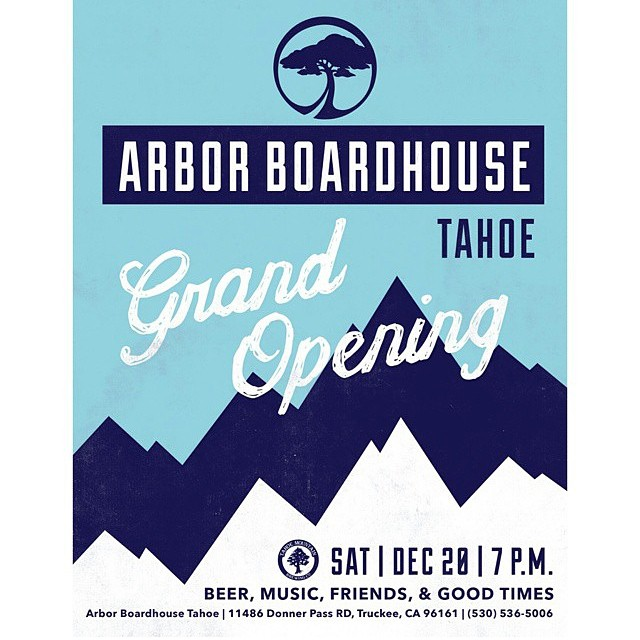 If you are in the Tahoe area, come party with Flux and friends at the Grand Opening of the Arbor Boardhouse Tahoe on Saturday night. @scottyvine will be there.