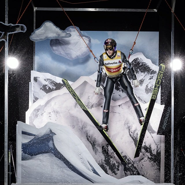 """Today? Oh, you know, just hanging around at a photo shoot."" #ski #wintersports @gregorschlierenzauer"