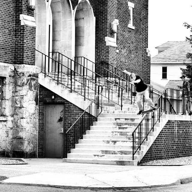 Check out @thrashley_photo shot in #issue29 of skater @shaneaiken #boardslide #steezmagazine