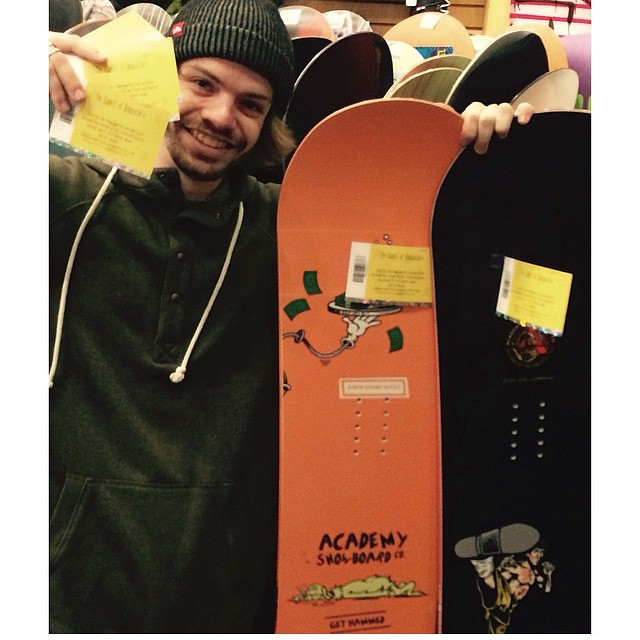 Get over to @boardshop_5420 in North Bend, WA to get a FREE ticket to @summitatsnoqualmie with purchase of every an Academy deck!  Supporting your shred!! #goodpeople #greatsnowboards #greatshops #supportlocal #supporttheshred #academykidsrule