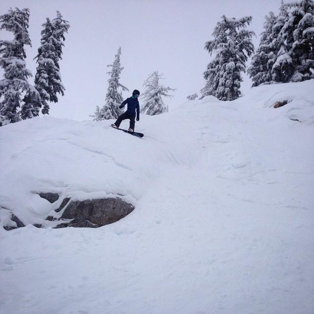 Enjoying the new snow #squawvalley #tahoe #snowboard #granitechief #thriving #ilovesnow