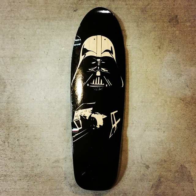 The elves finished a custom board just in time. #roadrashboardco #custom #longboard #darthvader #theforce