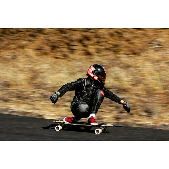 Killer shot of team rider @emmetwhite at the #rvodfreeride.  Photography by: @josh.bloomfield  #longboarding #longboarder #dblongboards #aeratrucks #venombushings #predatorhelmets #dblunchtray #lunchtray #maryhill