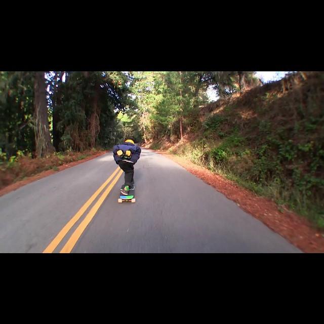 New @samsquach96 edit up on YouTube.com/s1downhill . Film and edit by #baddecisionalex #skateboarding #dhskate #sucrosewheels #arborskateboards #s1helmets #prehistoricrainforest #santacruz