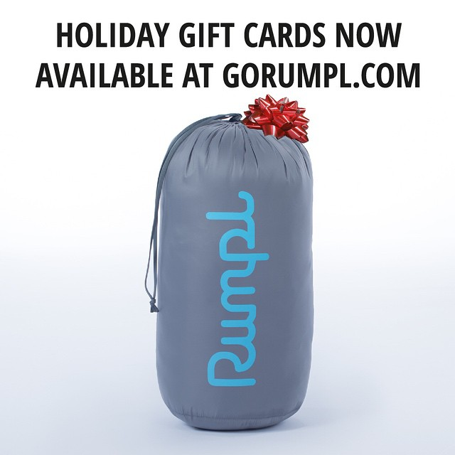Did December slip through your fingers? Not to worry, gift cards are now available at gorumpl.com
