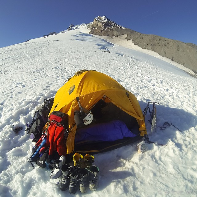 Photo of the Day! Geared up and ready to make the push to the summit of Mt. Hood. Photo by Stephen Wolff.