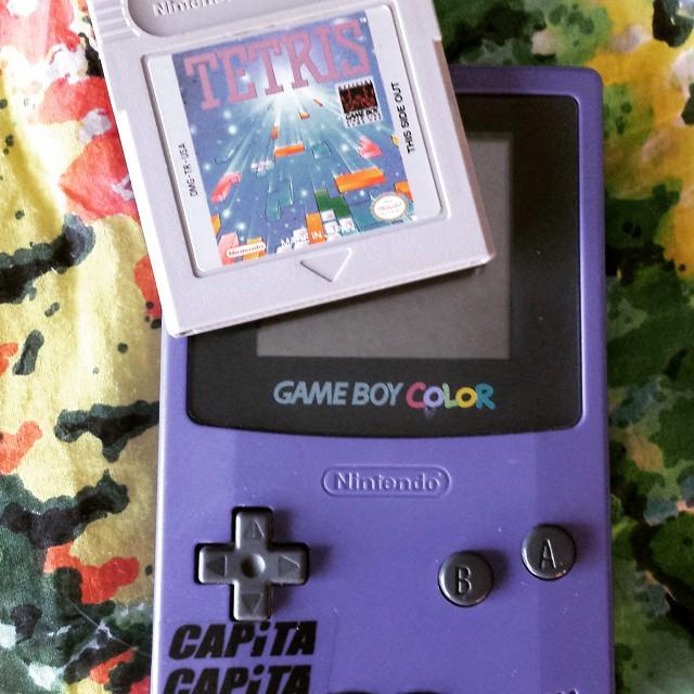 New gaming system.  #tetris #gameboy #capita