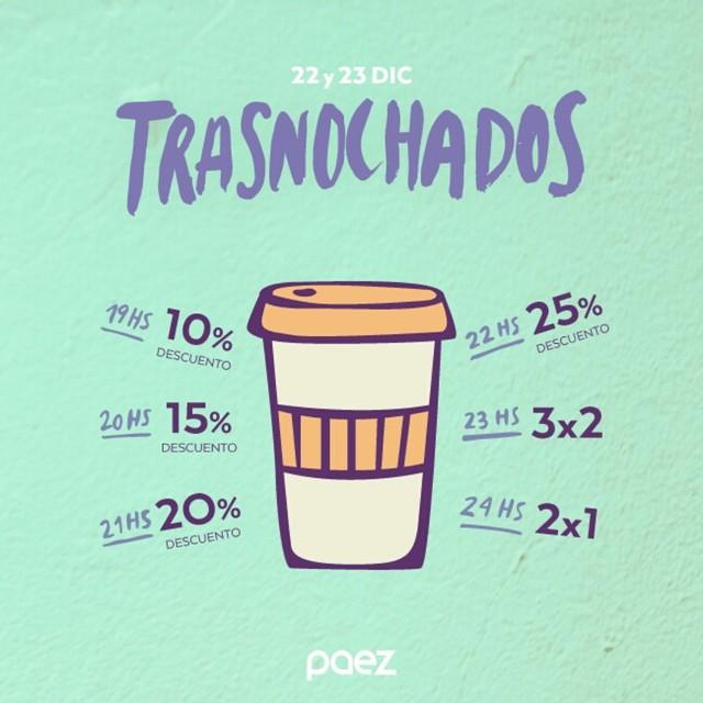 19hs arranca #trasnochados