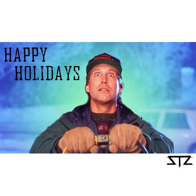 Happy holidays! Only 2 more days ... Time to watch the classic movies. #stzlife #happyholidays #clarkgriswold #christmasvacation #fixedthenewelpost #youseriousclark? #realniceclark