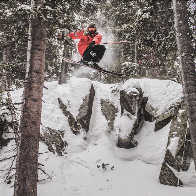 #ThisIsMyBeach | Bombing it through the trees is @mcrae_williams' beach - Where's yours? Tag a friend who shreds like this! #Kameleonz #LifesABeach #Freeski Great pic by @angryjordan Kameleonz.com