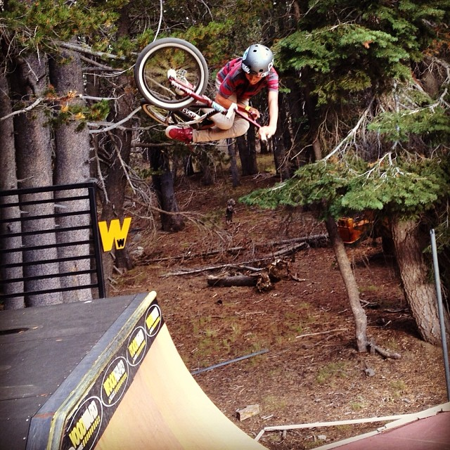 Little @andrew_bmxlife killing it! Go give him a follow! #bmx #fdvclothing #woodwardtahoe #riderowned