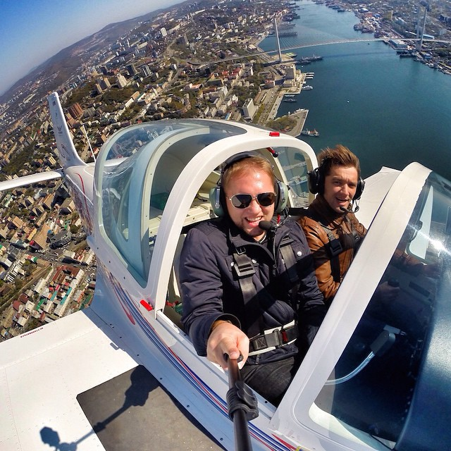 Photo of the Day! Flying over the city of Vladivostok in Russia. Photo by Vladimir Goncharov.