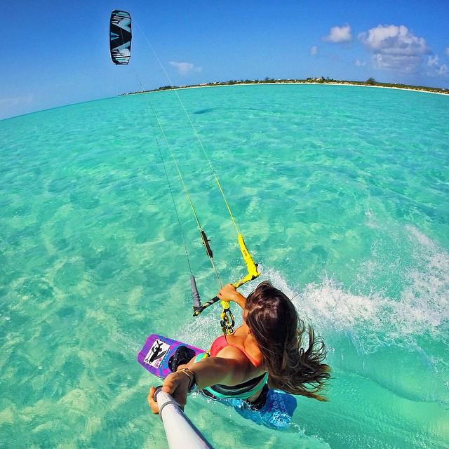 Kiteboarding Turks & Caicos. Photo: @hopelevin #gopro #gopole #gopolereach #kiteboarding
