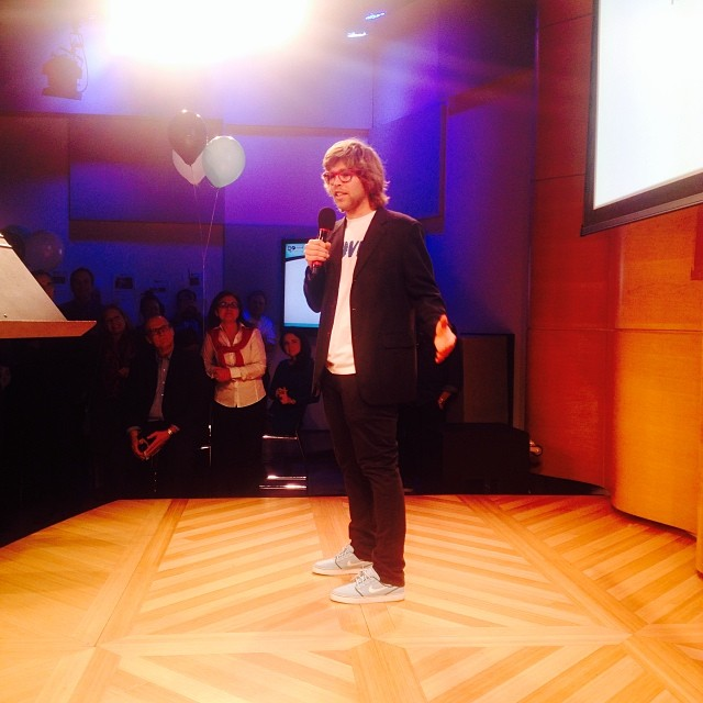 @kevinpearce accepting his award! #stokedorg #stokedawards #stokedneverstops