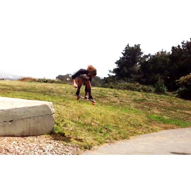 Team Rider @borintorrin gettin' gnarly in #sanfran #jellyskateboards #jellylife #jellyroadtrip