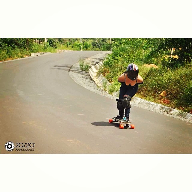Lucy chemier from panama city skating one of the fastest hills in Panama. @lucychemier
