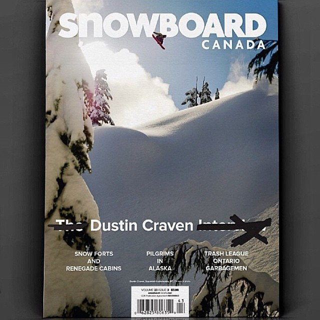 Check out the cover @dustincraven  just landed on @snowboardcanada