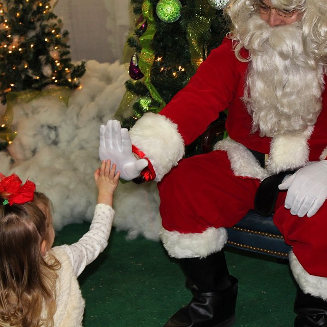 Who is excited to HIGH FIVE Santa tomorrow?