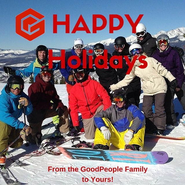 Have a Happy & Healthy Holiday Everyone, we hope it's full of friends, family, and adventure ~ from your friends @ GoodPeople #tistheseason #prayforsnow #snow #snowboarding #skiing #family #friends #goodpeople #goodpeoplelife #gobigdogood #holiday...