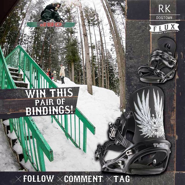 LAST CHANCE TO WIN FLUX! Flux Bindings is giving away this set of RK Dogtown Bindings from the new Heritage Collection! To Enter: FOLLOW our gram feed, make a COMMENT on this post and TAG three of your friends in your comment. The winner will be...