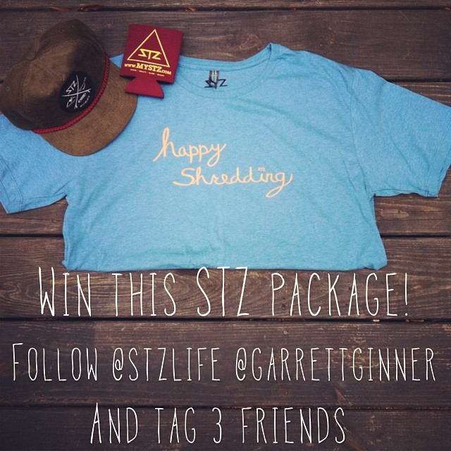 Win this prize pack! Tag 3 friends and follow @stzlife @garrettginner .... Team rider Garrett ginner will choose a  winner Monday!  #stzlife #happyshredding #contest #wake #skate #surf #snow #giveaway