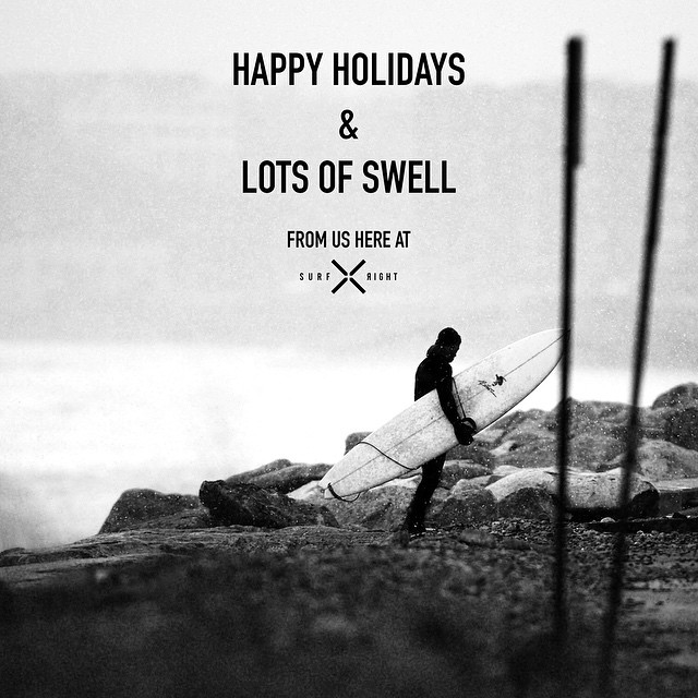 Happy Holidays from us here at Surf Right! #merrychristmas #coldwatersurf #newengland
