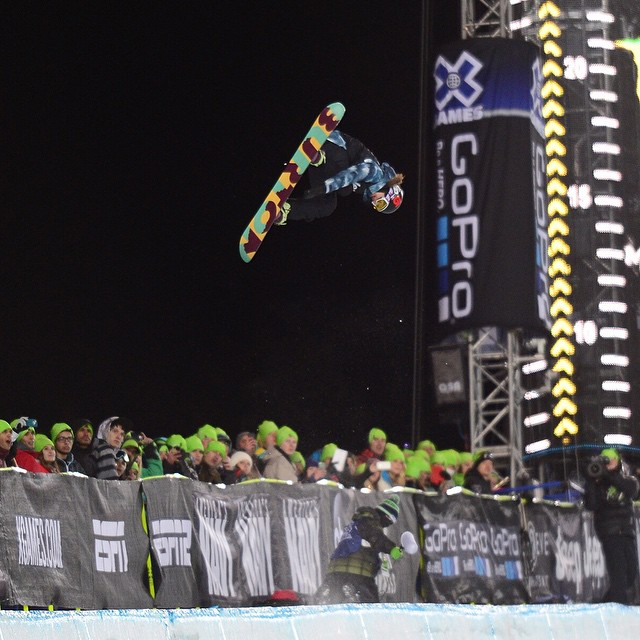 We're counting down our top 10 moments of 2014!  No. 8 – @kellyclarkfdn snagged her seventh Snowboard SuperPipe gold at #XGames Aspen.