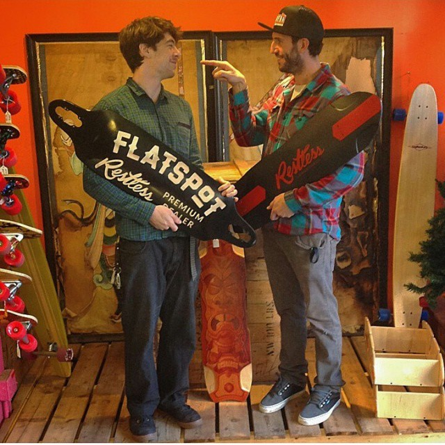 @flatspotshop : premium dealer located in Vancouver! These guys are rad! #restlessboards #restlessNKD