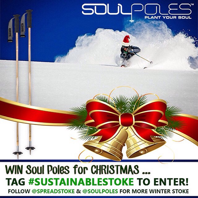 Merry Christmas!  Today is your last chance to tag photos with #sustainablestoke for a chance to win a custom pair of @soulpoles  To Enter:  1. Follow @spreadstoke and @soulpoles 2. Share a photo of how you participate in #sustainablestoke  Let's make...