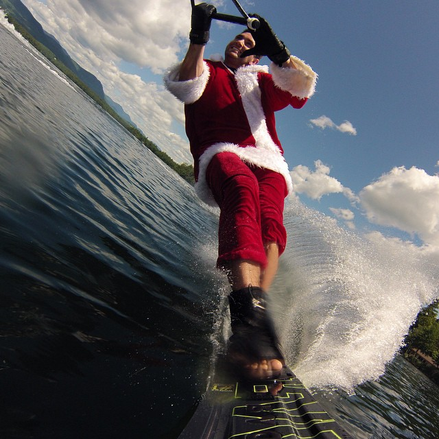 Photo of the Day! After the presents are delivered, Santa goes waterskiing. Photo by @akeefer9.