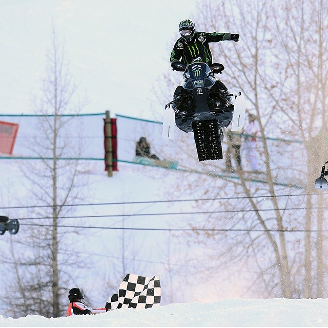We're counting down our top 10 moments of 2014!  No. 7 – @tuckerhibbert secured his seventh straight Snowmobile Snocross gold medal at #XGames Aspen.