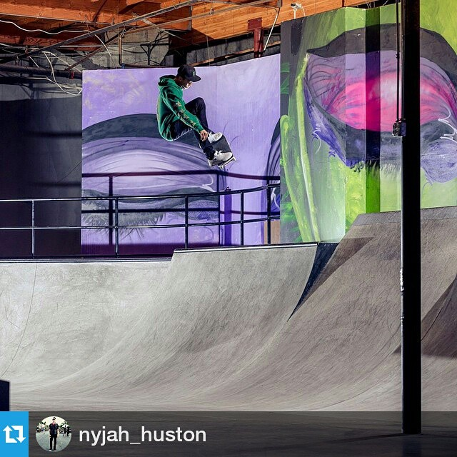 #Repost @nyjah_huston ・・・ A video part at my new skatepark will be premiering tomorrow on ABC at 11:30 pacific time! Be sure to check it out