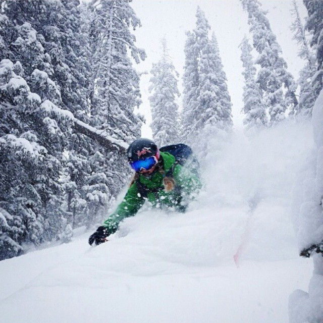 Our @alexriedman getting crazy #Christmas #powder in #Colorado #orangehot