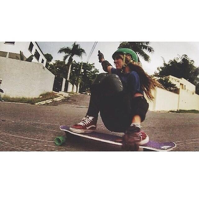 @afrias65 getting low. Enjoy your Sunday, family!  #longboardgirlscrew #girlswhoshred #anabellefrias